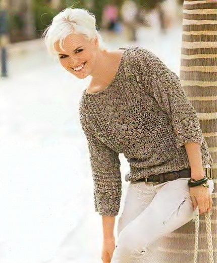 Вязаные Пуловеры Для Полных Женщин Доставка